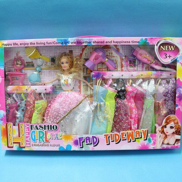 芭比娃娃  13件衣服  11.5吋洋洋娃  一盒入 ^~ 促350 ^~ ^~CF120