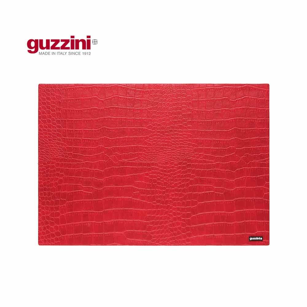 義大利GUZZINI 鱷魚皮紋系列-4330CM紅色餐墊