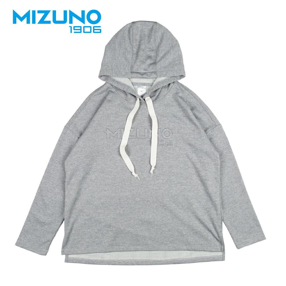 MIZUNO 1906 女款休閒長袖連帽T恤 D2TA870303 (灰) 【美津濃MIZUNO】 3