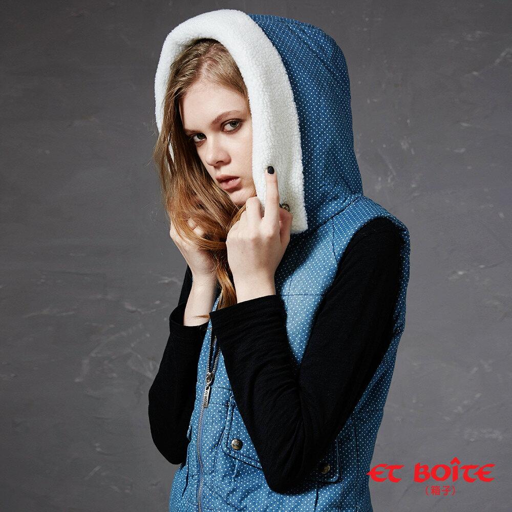 【出清5折↘】點點連帽牛仔背心外套 - BLUE WAY  ET BOiTE 箱子 4