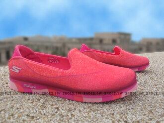 Shoestw【81078LHPK】SKECHERS 中童鞋 GoFlex 超軟Q底 桃紅 好穿脫 女生可以穿
