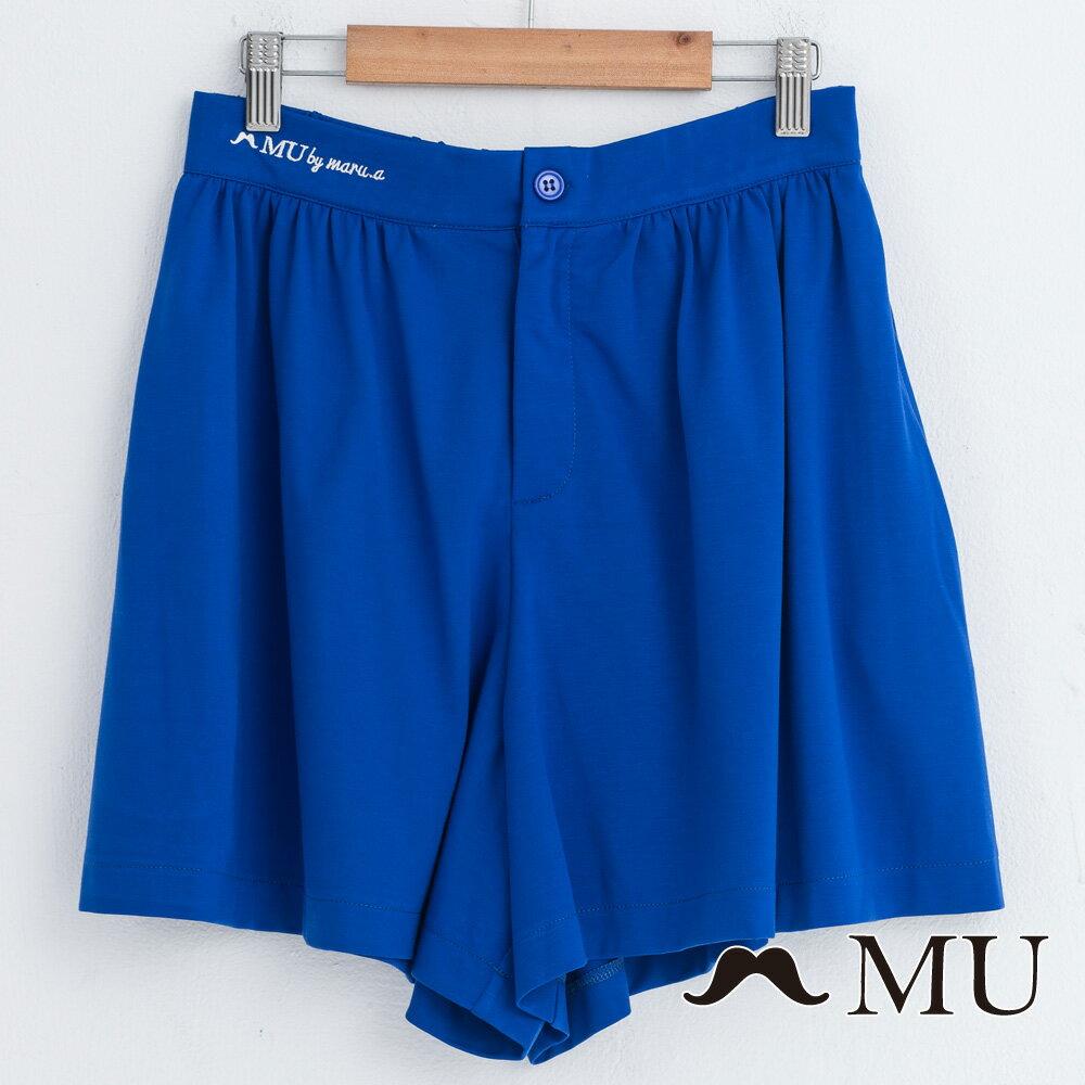 【MU】腰部LOGO刺繡刺繡短寬褲  7325162 5