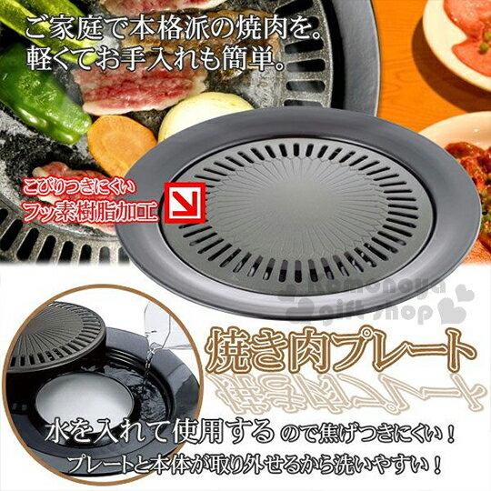 〔小禮堂〕味覺探訪 圓形燒肉烤盤~圓型.33.5cm.MR~7385.盒裝~瓦斯爐