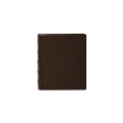 Pioneer Sewn European Bonded Brown Leather Bookbound Bi-directional Memo Albums (Pack of 2) 1