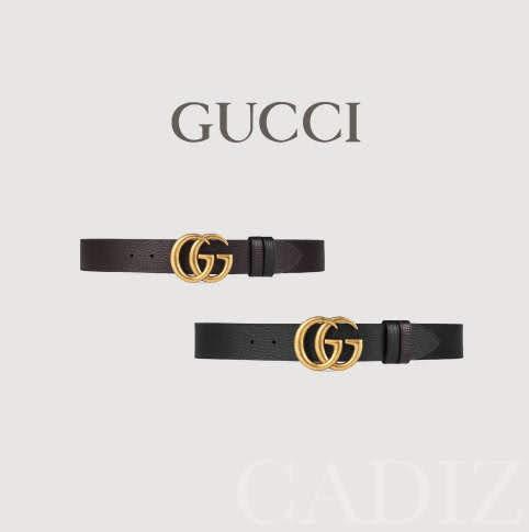 義大利正品 GUCCI Leather belt with Double G buckle 兩色金色大LOGO率性皮帶