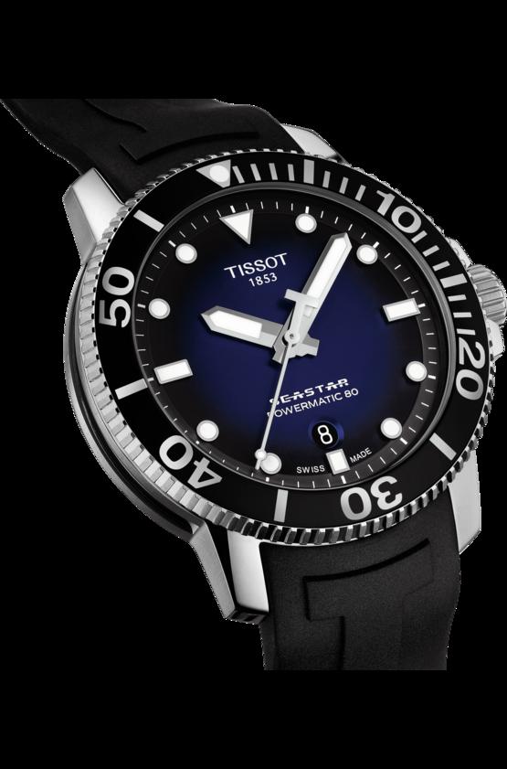 TISSOT 天梭 T1204071704100 Seastar 1000 陶瓷圈 海洋之星300米潛水機械錶 黑 藍 43mm【8 / 15前↘領券再9折,優惠券碼: 2008CP2000B 】 3