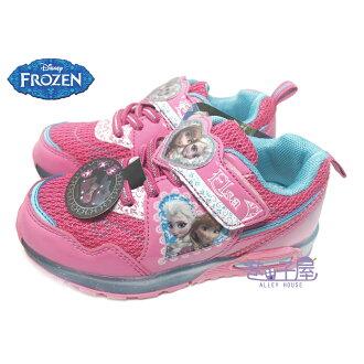 【巷子屋】DISNEY迪士尼 冰雪奇緣女童超光束電燈造型運動休閒鞋 [54132] 桃紅 超值價$198