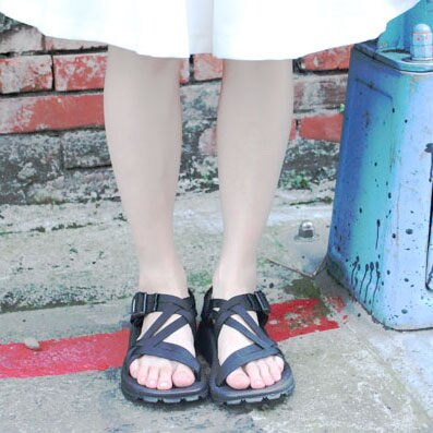 【限時滿999折100】涼鞋 厚底 韓國ulzzang經典款暗黑百搭涼鞋zipper好穿簡約交叉 黑色涼鞋 情侶 涼鞋 男女可穿
