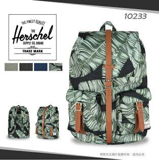 《熊熊先生》Herschel加拿大品牌素色花布後背包13吋筆電包DAWSON帆布書包上掀式束口雙肩包10233寬版透氣背帶