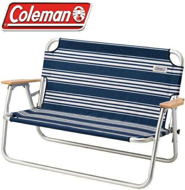 Coleman 輕鬆折疊長椅/折椅/露營折疊椅/雙人椅 CM-31287M000 海軍藍/台北山水