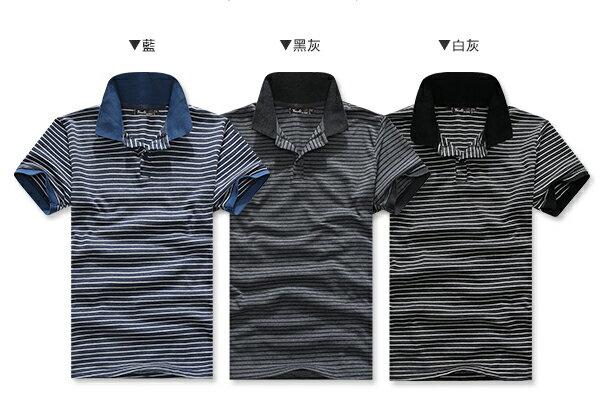 ☆BOY-2☆【PPK83015】情侶條紋休閒短袖POLO衫 3
