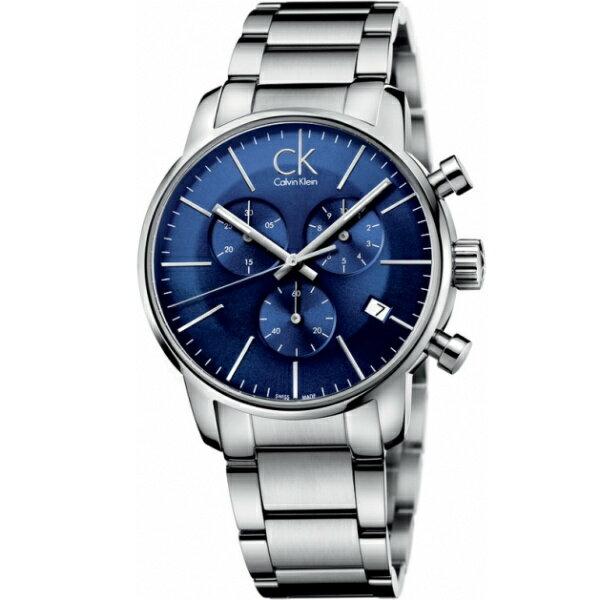 CK 都會系列(K2G2714N)都會時尚計時腕錶/藍面43mm