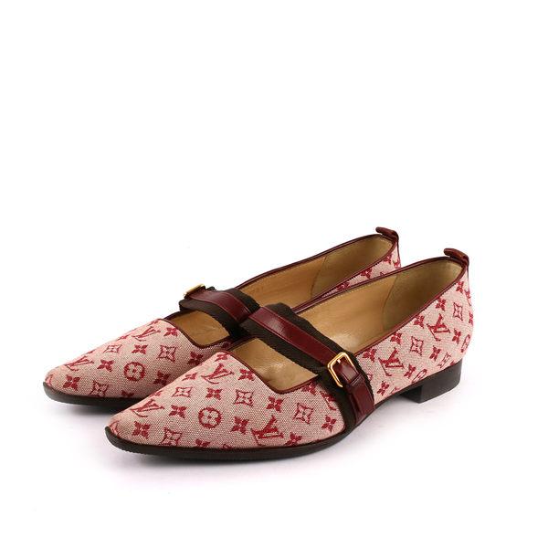 【LV】 MINI MONOGRAM尖頭包鞋 (酒紅色) LV51030001