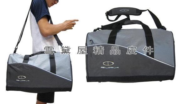 ~雪黛屋~TaTi旅行袋小容量通過30kg重力測試防水尼龍布材質輕巧好收納可手提肩背斜側背附活動長背帶AI039