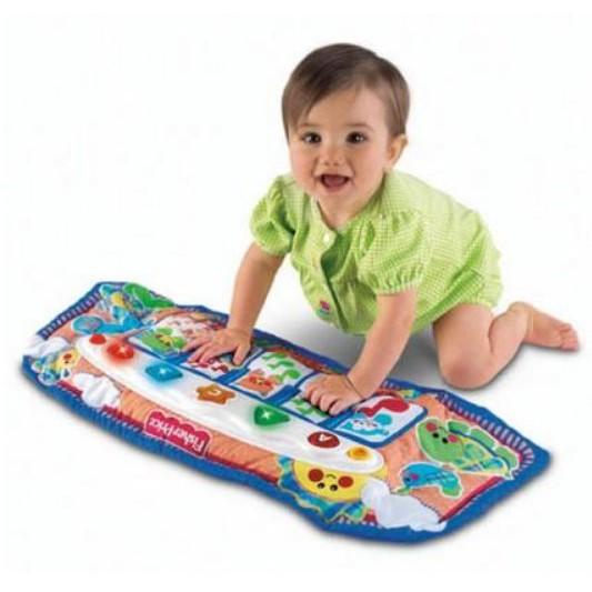 麗嬰兒童玩具館~費雪牌專櫃-小baby的音樂踢踢腳鋼琴.優質床掛玩具 2