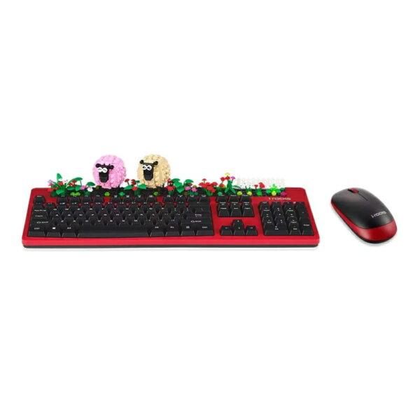 [鍵鼠組]i-rocksK77RP無線趣味積木鍵盤滑鼠組遊戲鍵盤電腦鍵盤PC滑鼠電腦滑鼠【迪特軍】