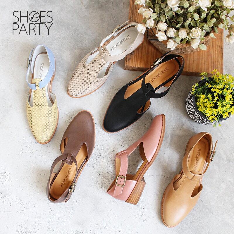 【S2-19328L】外尖內圓T字牛津鞋_Shoes Party 0
