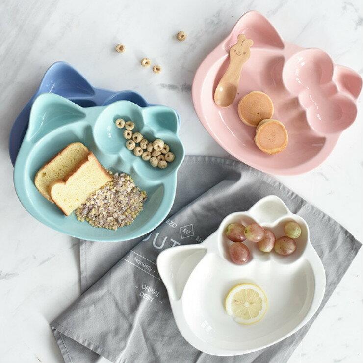 |現貨|甜蜜糖果色造型陶瓷分隔餐盤 4色 陶瓷餐盤 兒童餐盤 0