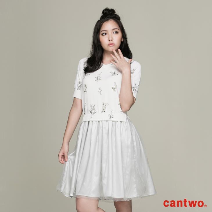 cantwo滿版印花針織洋裝(共二色) 1