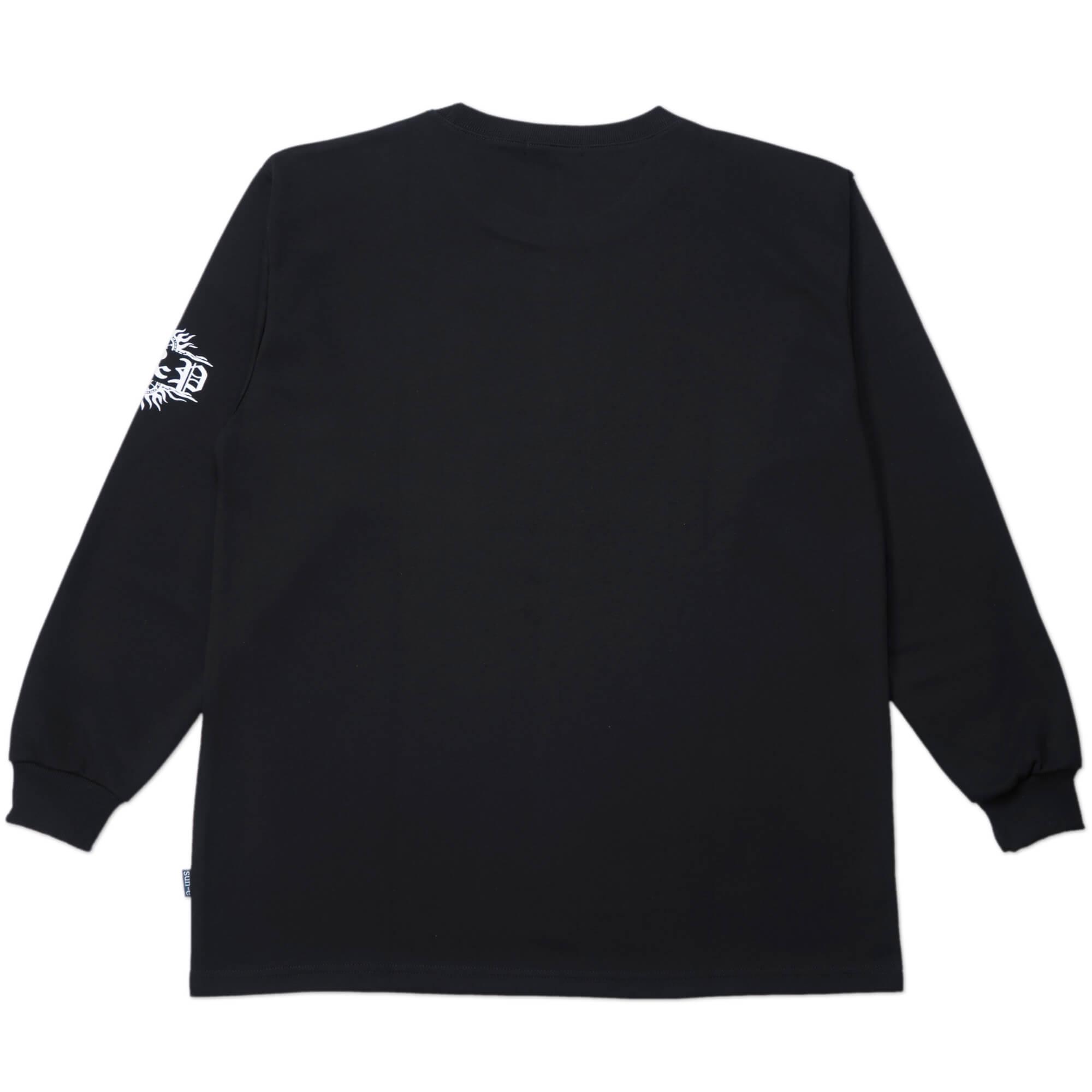 加大尺碼台灣製長袖T恤 哥德體英文字彈性圓領T恤 T-shirt 長袖上衣 休閒長TEE 藍色T恤 黑色T恤 MADE IN TAIWAN NAVY BLUE BIG_AND_TALL (310-0860-08)海軍藍、(310-0860-21)黑色 4L 6L(胸圍52~57英吋) [實體店面保障] sun-e 4