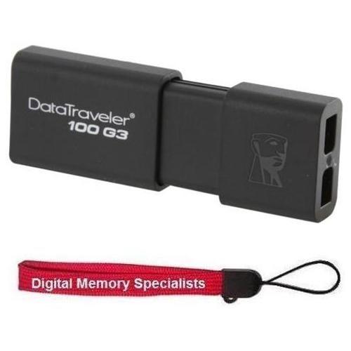 Kingston 32GB DataTraveler 100 G3 32G USB 3.0 100MB/s DT100G3 Flash Pen Thumb Drive DT100G3/32GB + USB Lanyard