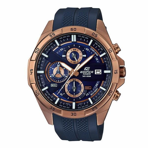 CASIO卡西歐EDIFICEEFR-556PC-2A三針三眼時尚賽車腕錶48.7mm