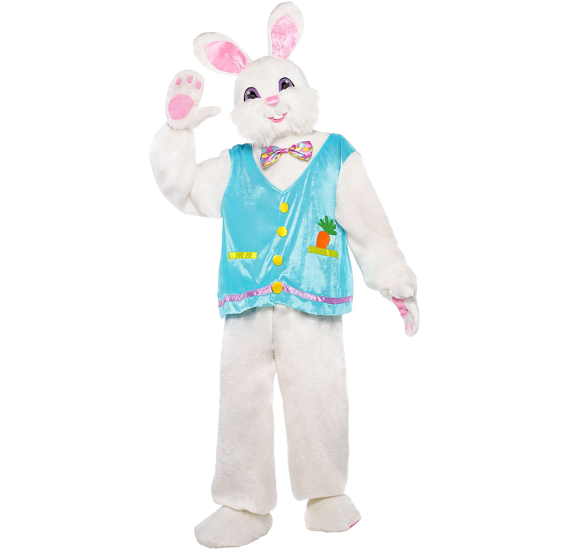 Adult Easter Bunny Costume Complete With Headpiece Shirt And Pants