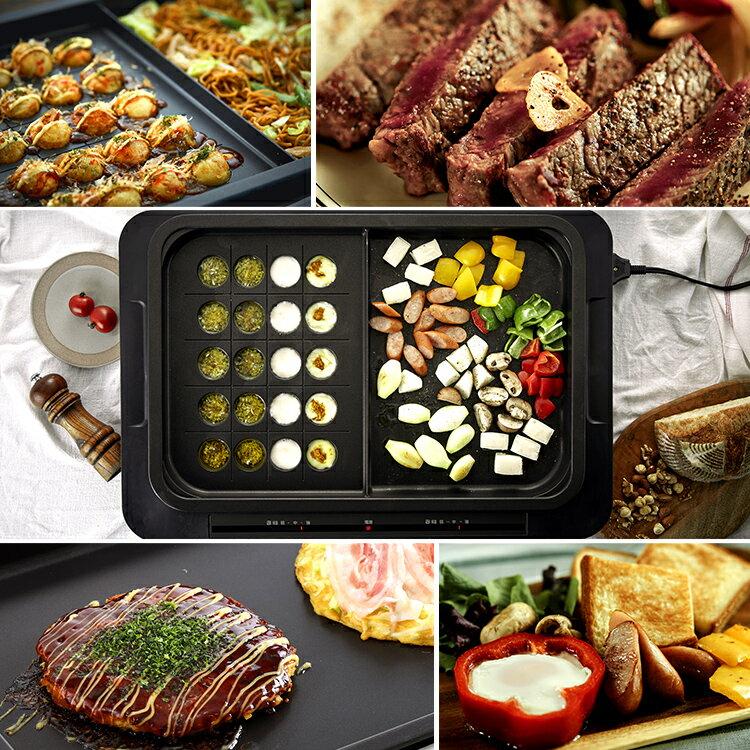 日本 IRIS OHYAMA  /  多功能電烤盤 左右獨立控溫 ( 附平盤+分隔盤 )  /  WHP-012。日本必買 日本樂天代購(12800) /  件件含運 1
