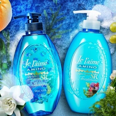 KOSE 高絲 Je l'aime AMINO系列/植物集中修護保濕型洗髮精-藍綠色