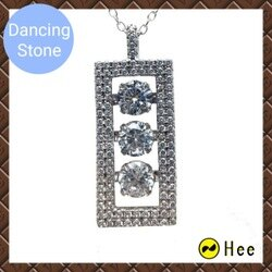 三倍閃耀 免運 Dancing stone 925純銀舞動項鍊 母親節送禮 Crossfor正版配件