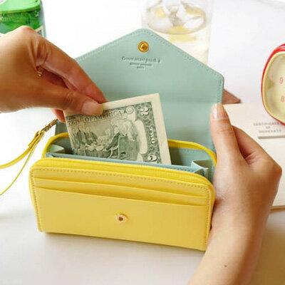 皮夾 皇冠donbook 零錢包 手機包 中夾短夾卡包 ~SV2804~快樂 網