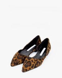 【AIN】 平底鞋 pointed leopard flat shoes (225-250)