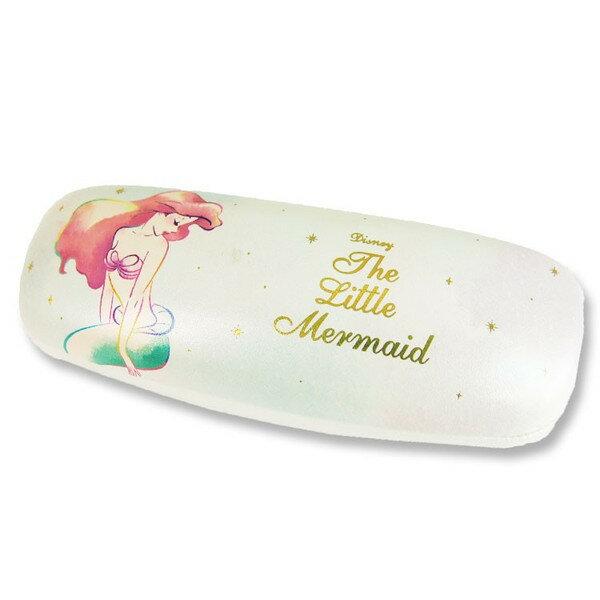 X射線 精緻禮品:X射線【C064315】小美人魚Ariel眼鏡盒附拭鏡布-幻想微光,眼鏡收納架眼鏡盒眼鏡掛架太陽眼鏡盒