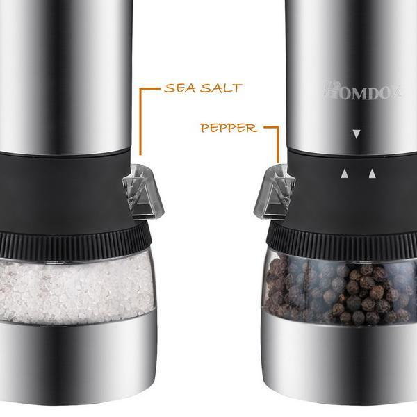 Stainless Steel 2 in 1 Dual Head Electric Grinder with Adjustable Grind 4