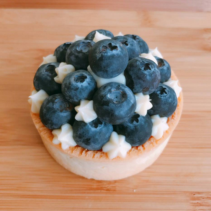 【MeiMeiBaking】夜裡星空藍莓塔(3吋)