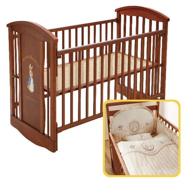 【促銷】奇哥 比得兔 原木中床+優雅比得兔六件式寢具組 / 床組 (M) 1
