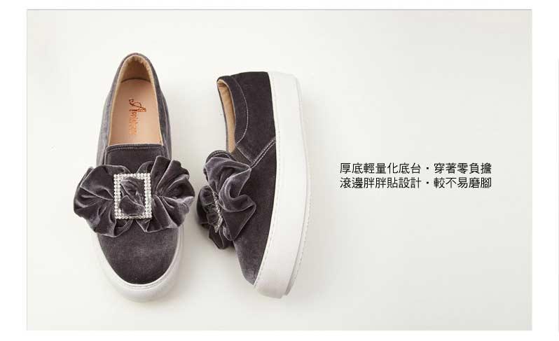 歐系大水鑽釦厚底輕量化氣墊鞋【QCA138791380】AppleNana蘋果奈奈 6