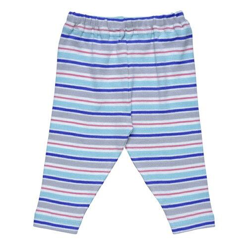 【好優Hoyo】美國Under The Nile有機棉休閒長褲(粉紅水藍彩紋)~0-3個月
