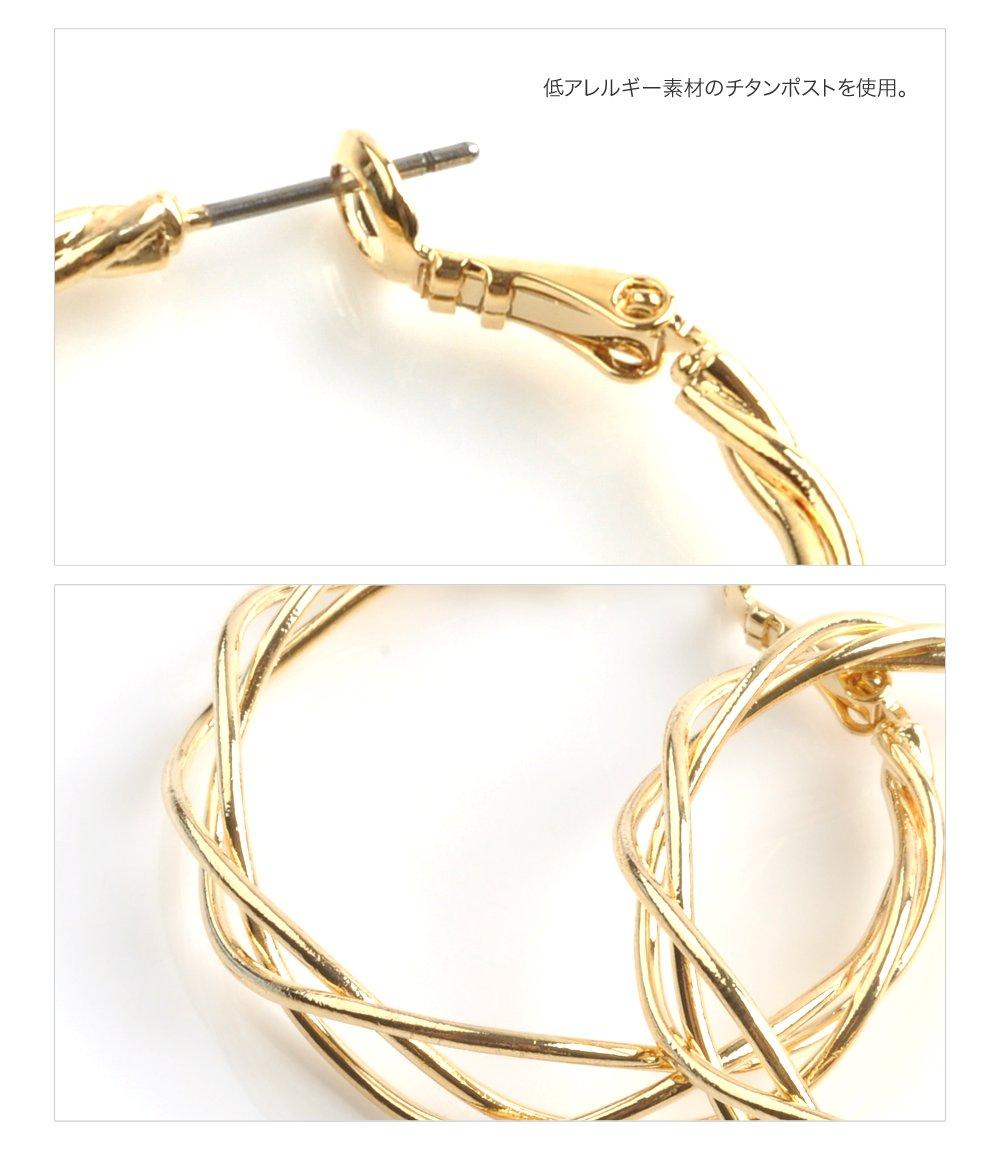 日本CREAM DOT  /  金属アレルギー ニッケルフリー ピアス メタル サークル モチーフ ゴールド シルバー 結婚式 お呼ばれ アクセサリー シンプル 上品 清楚 おしゃれ 大人 カジュアル  /  qc0408  /  日本必買 日本樂天直送(1098) 5