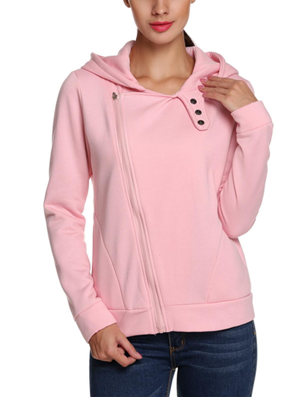 Women Casual Slim Fit Zip-up Hoodie Jacket 1