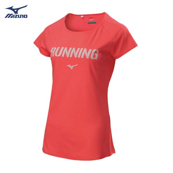 【登瑞體育】MIZUNO女款路跑短袖上衣_J2TA821356