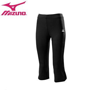 K2TB4C1809(黑)七分褲型女瑜珈褲 【美津濃MIZUNO】