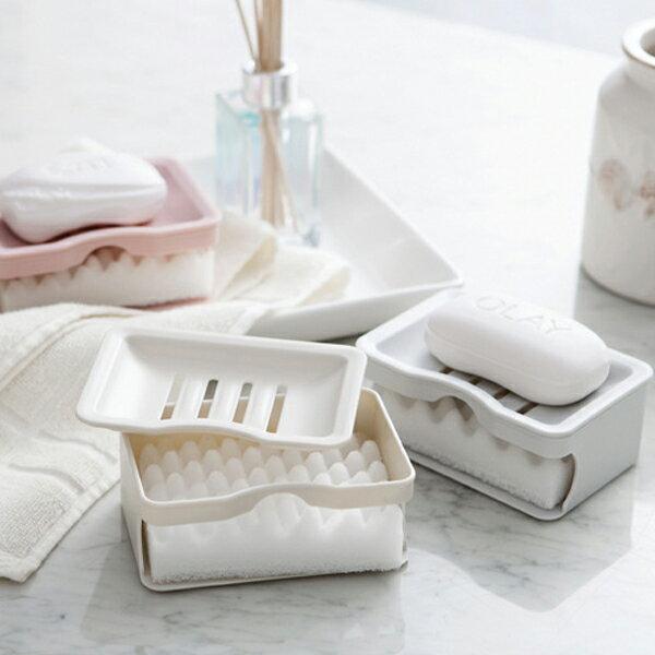 PSMall衛浴日用品雙層瀝水肥皂盒【J1185】