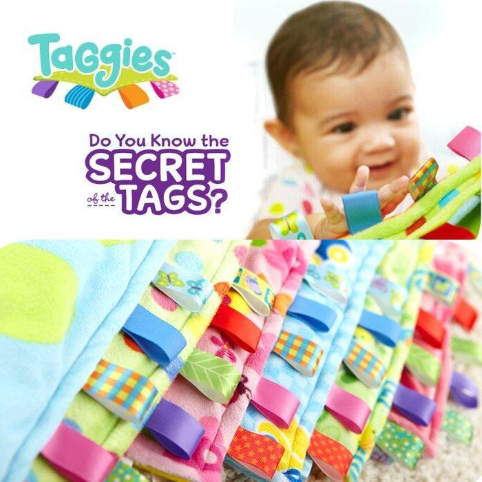 美國Taggies柔軟材質彩色安撫標籤嬰兒超大安撫巾 口水巾 BABY抓握情緒安撫必備品