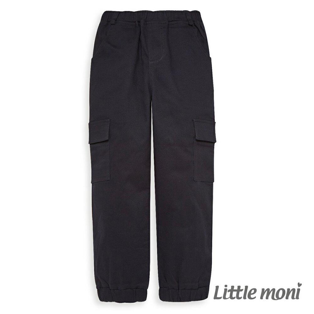 Little moni 個性束口工作褲-深藍(好窩生活節) - 限時優惠好康折扣