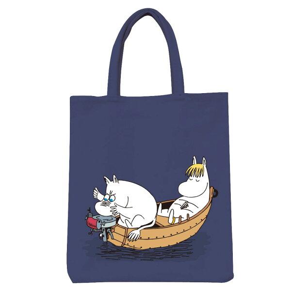 【嚕嚕米Moomin】彩色野餐包-moomin捕魚趣(藏青鐵灰)