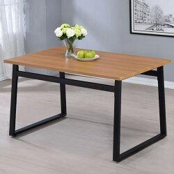 餐桌/飯桌/休閒桌/工業風【Yostyle】亞當工業風4.3尺餐桌