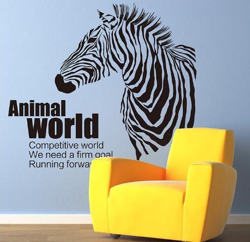 WallFree窩自在★DIY無痕壁貼/牆貼-XL7119-動物世界