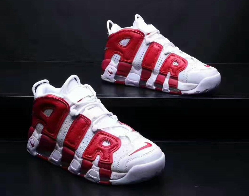 Nike Air More Uptempo Black Pippen 紅白 男款