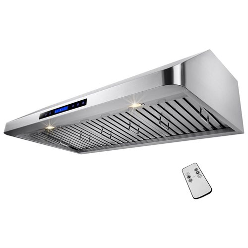 "AKDY® RH0152 48"" Stainless Steel Under Cabinet Mount Range Hood 1200 CFM Touch Screen Display Light Lamp Baffle Filter Vented Cooking Fan Stove Kitchen Vents 1"